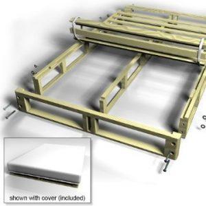 The dynasty mattress wood box foundation