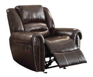 Homelegance 9668BRW-1 Glider Reclining Chairs