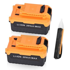 Powerextra 2 Pack 5.0Ah 20 MAX Lithium