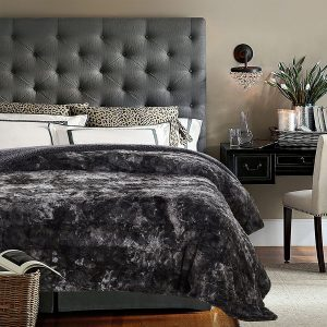 Chanasya Super Soft Fuzzy Fur Throw Blanket