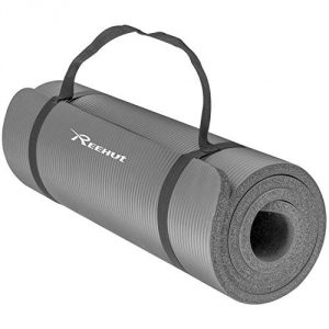 Reehut 0.5 inch Extra Thick High-Density NBR Exercise Yoga Mat