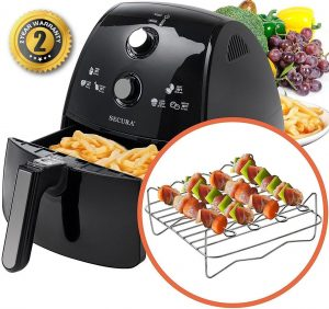 Secura 4-Litre, 4.2 Quart, Extra Large Capacity 1500 WattElectric Hot Air Fryer