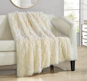 Chic Home Elana Shagy Faux Fur Throw Blanket
