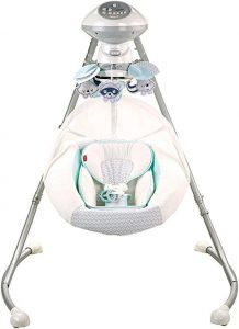 White Fisher-Price Moonlight Meadow Cradle 'N Swing