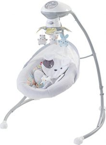 White Fisher-Price Sweet Snugapuppy Dreams Cradle 'NSwing