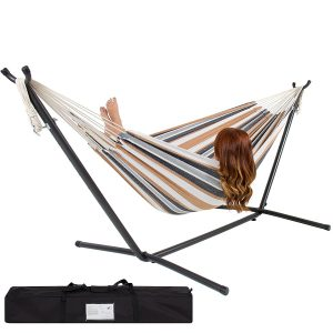 SorbusDouble Hammock with Steel Stand