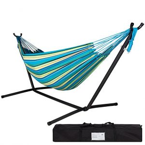 Lazy DazeHammocks Double Hammock with Space Saving Steel Stand