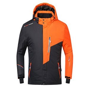 Phibee Men's Waterproof Windproof Outdoor Fleece Ski Jacket