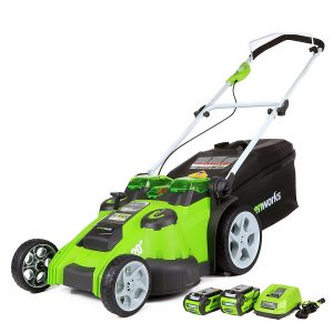GreenWorks 40V Twin Force 25302 G-MAX 20-Inch Lawn Cordless Mower