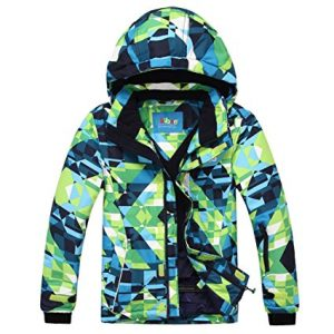 Phibee Big Boy's Waterproof Breathable Snowboard Ski Jacket