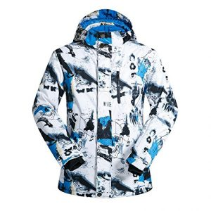 FISOUL Men Fashion Ski Snowboard Waterproof and Windproof Jacket