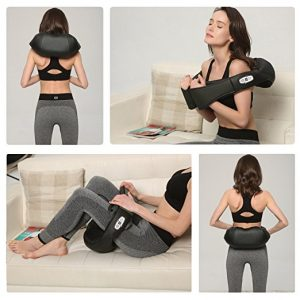Shiatsu Neck and Shoulder Massager Perfect for Car and Office Chair