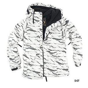 Myglory77mall Men's Camouflage Hooded Weatherproof Winter Snowboard Jacket