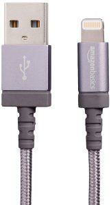 AmazonBasics Nylon Braided USB A to Lightning Compatible Cable