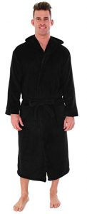 Men's Bathrobe Simplicity-Hooded Kimono Robe