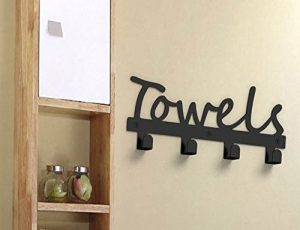 Fasmov Wall-Mounted 4-Hook Towel Rack