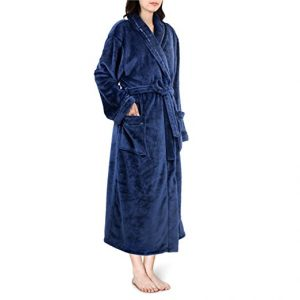 Pavilia Premium Women Fleece Bathrobe