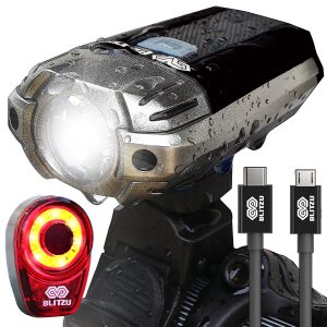 BLITZU Gator 390 USB LED Bicycle Light Set