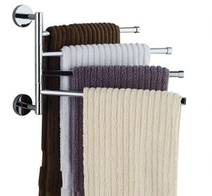 Bekith 16-Inch Wall Mounted Towel Rack Hanger