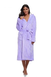 Luvrobes Women's Plush Hooded Bathrobe