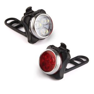 Ascher USB Rechargeable Super Bright Bike Light Set