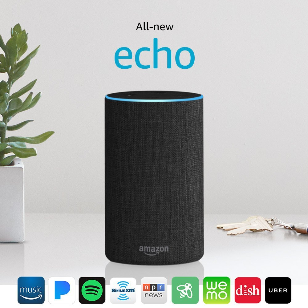 Amazon Echo Powered by Dolby, Charcoal Fabric