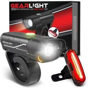 GearLight S400 LED Rechargeable Bicycle Light Set