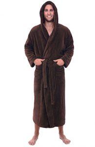 Alexander Del Rossa Mans Fleece Robe