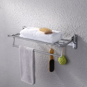 KES A3010 Towel Rack with Foldable Towel Rack