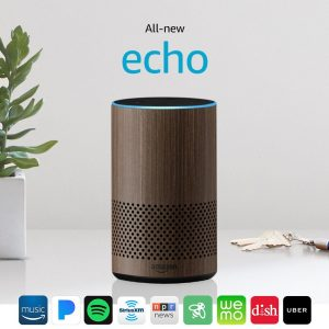 Amazon Echo 2nd Generation by Dolby Walnut Finish