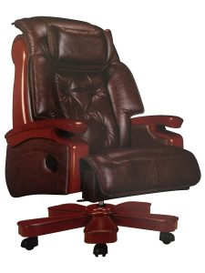Halter EY-14A Fully Assembled Ergonomic Reclining PU Leather Executive Office Chair
