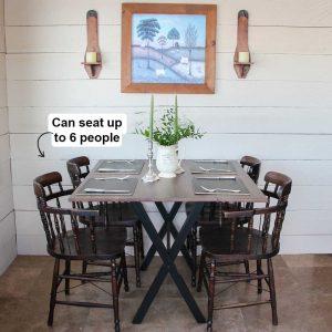 Solid Wood Drop Leaf Dining Room Table
