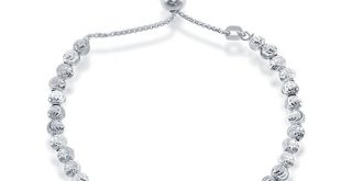 Beaux Bijoux 925 Sterling Silver Diamond-Cut MoonBeads Bracelet