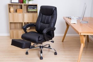 LCH High Back Executive Office Chair-Reclining Napping Computer Desk