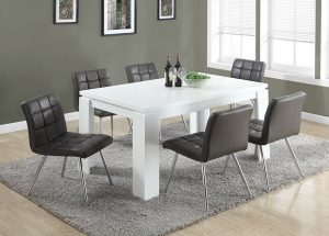 "Monarch Specialties I 1056, Dining Table, White Hollow-Core, 60""L"