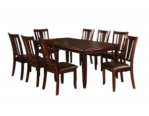 "Furniture of America Frederick 9-Piece Dining Table Set with 18"" Expandable Leaf"