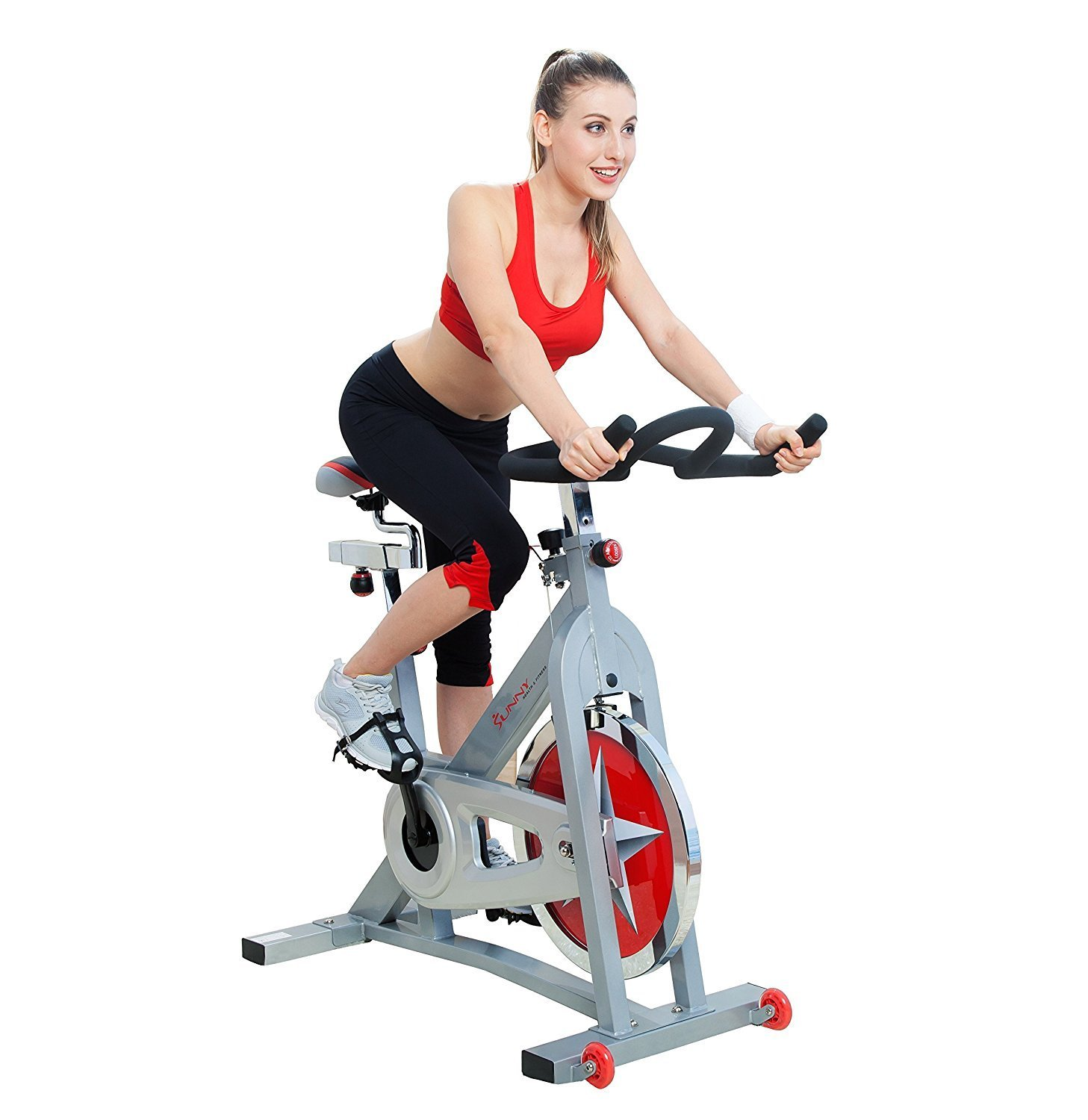Pro Indoor Cycling Bike by Sunny Health & Fitness – SF-B90, Gray