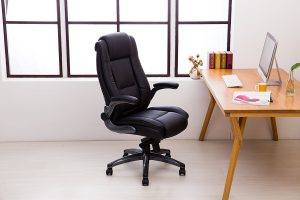 LCH Kadirya executive Office Chair - Adjustable Angle Recline Locking System and Flip-Up Arms