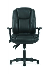 Sadie Leather - Ergonomic Adjustable Swivel Chair with Lumbar Support (HVST331)