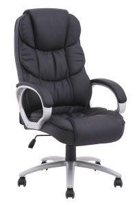 BestOffice Ergonomic PU Leather, Black