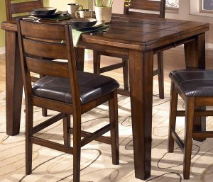 Ashley Furniture Signature Design - Larchmont Dining Room Table with Butterfly Leaf