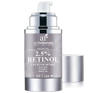 Naturals Art Enhanced Cream Retinol Moisturizer with Hyaluronic Acid and 20 percent Vitamin C