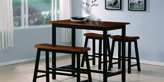 Crown Mark Tyler 4-Piece Counter Height Table Set
