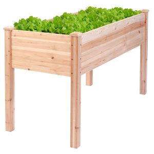 Giantex Wooden Raised Vegetable Garden Planter-Garden Planters