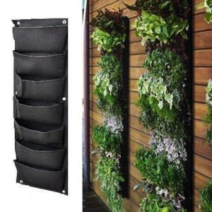 Meiwo 7-Pocket Vertical Hanging Garden Wall Planter-Garden Planters