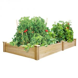 Greenes Cedar Raised Garden Planter-Garden Planters