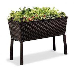 Keter Easy Grow Patio Garden Flower Planter-Garden Planters