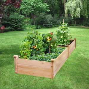 Greenes Fence Best Value Cedar Raised Garden Bed Planter-Garden planer