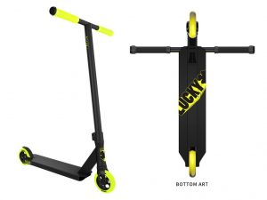 Lucky Pro Crew Freestyle Scooter (Black/Hi-Liter)