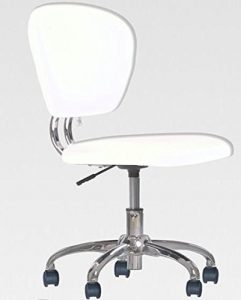 BestOffice New White PU Leather H20 Task Chair-Mid Back Task Chairs